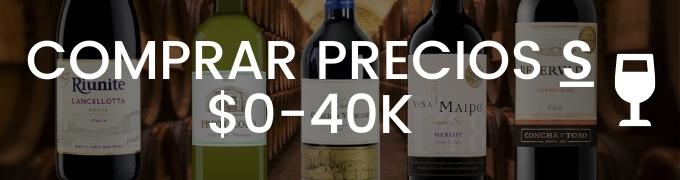 Comprar Vino Por Precios De 0 A 40 Mil