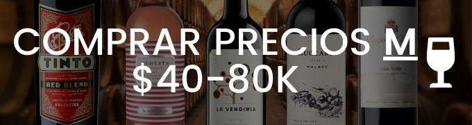 Comprar Vino Por Precios De 40 Mil A 80 Mil