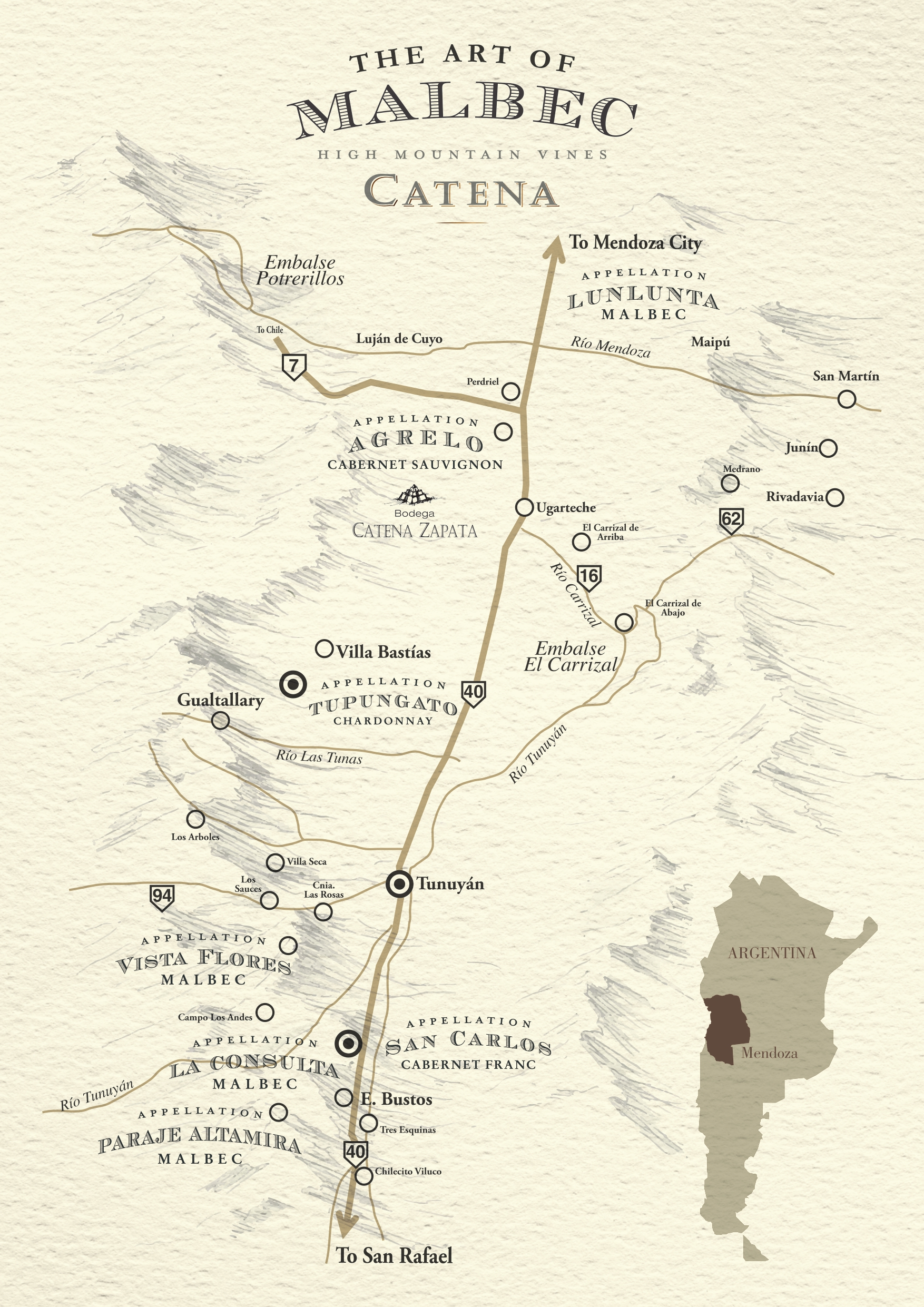 Map Appellations Terroirs Catena