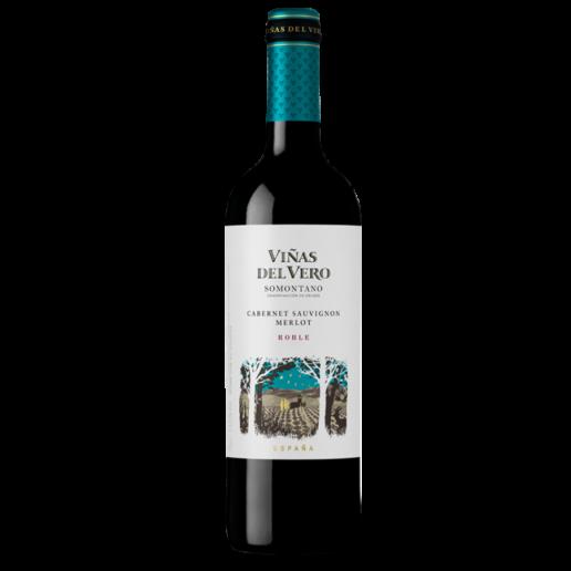 vino espanol vinas del vero caber.sauvig.merlot roble 750 ml.png